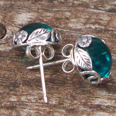 Botanical Sterling Silver Post Earrings