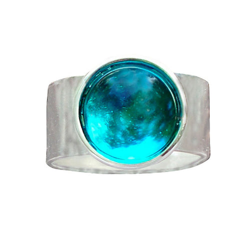 Glass Gem Adjustable Rings