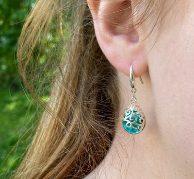 Filigree Teardrop Sterling Earrings