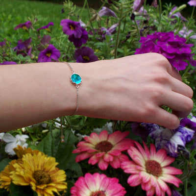 Botanical Sterling Silver Adjustable Slider Bracelet