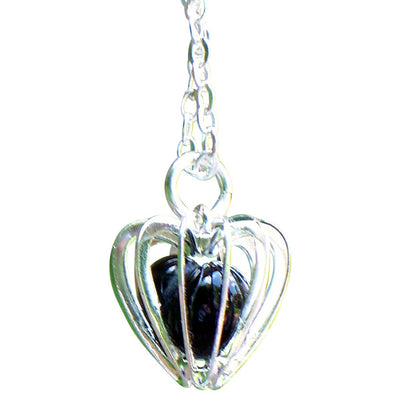 Heart Cage Silver Necklace