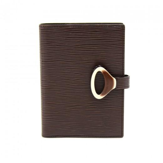 Louis Vuitton Moka Brown Epi Leather Agenda Cover MM
