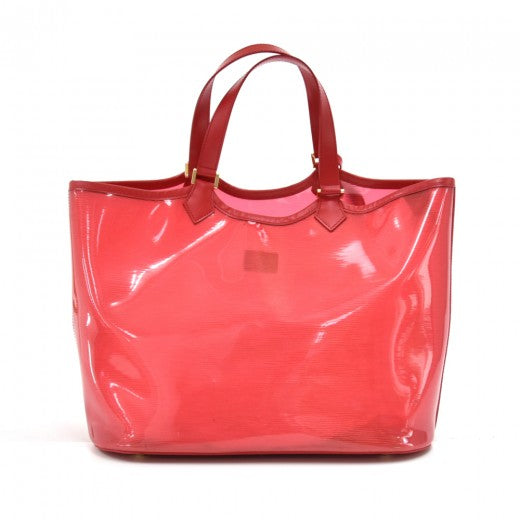 Louis Vuitton Plage Lagoon MM Red Vinyl Beach Tote Bag