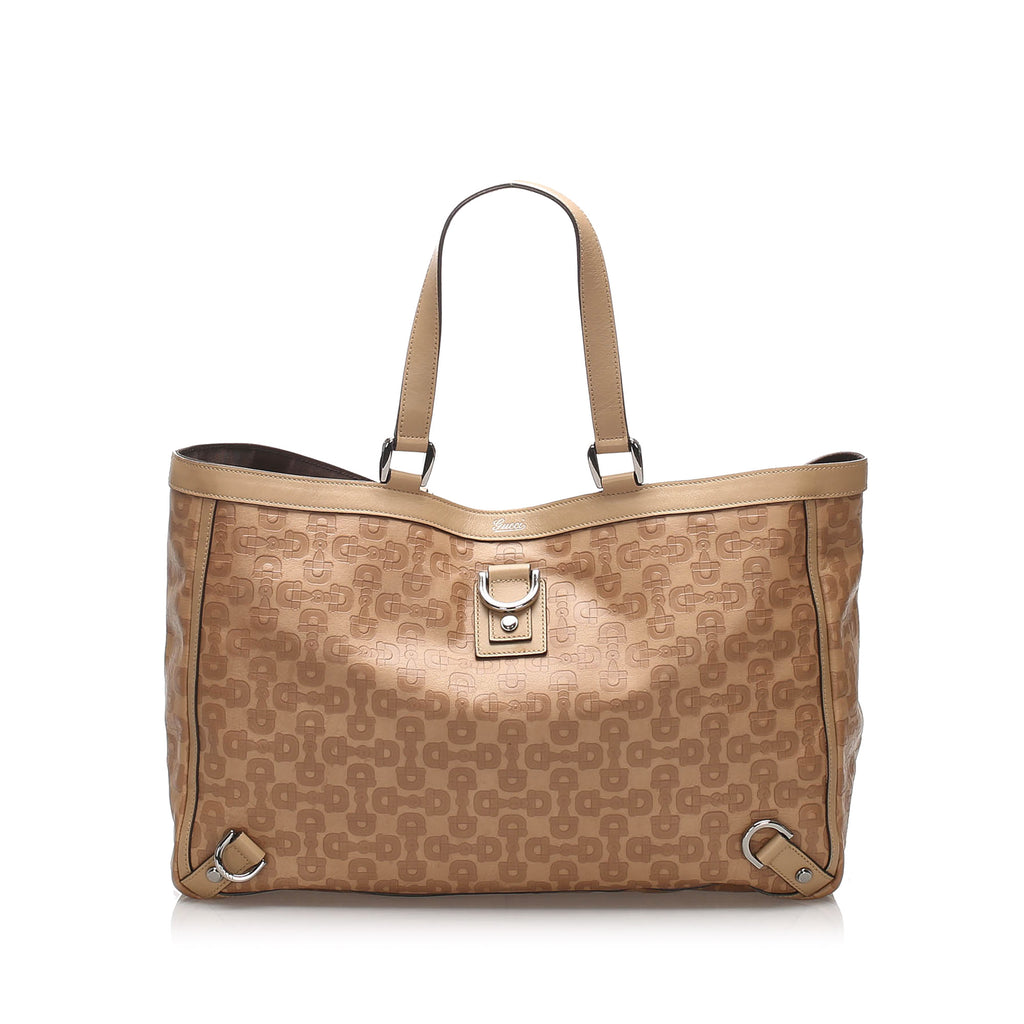 Gucci Horsebit Abbey D-Ring Leather Tote Bag