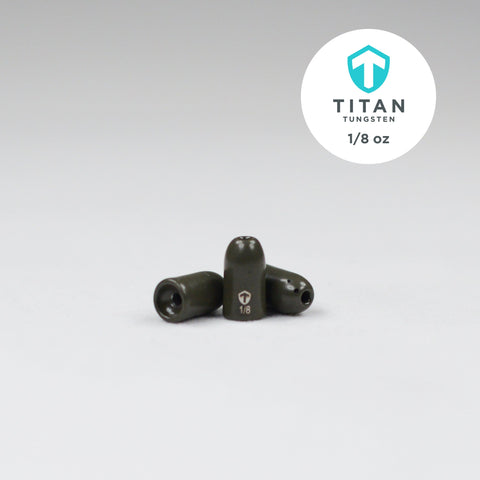 Image of Pro-Series Worm Weights - Green Pumpkin - Titan Tungsten