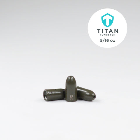 Pro-Series Worm Weights - Green Pumpkin - Titan Tungsten