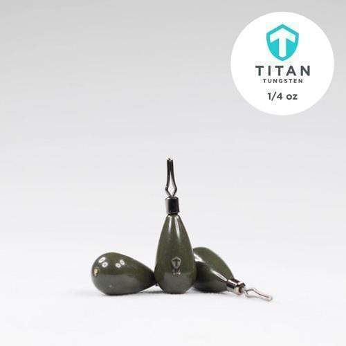 Pro-Series DropShot (StealthShot) Weights - Green Pumpkin - Titan Tungsten