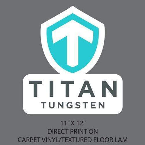 Image of Team Titan Carpet Decal LARGE - Titan Tungsten