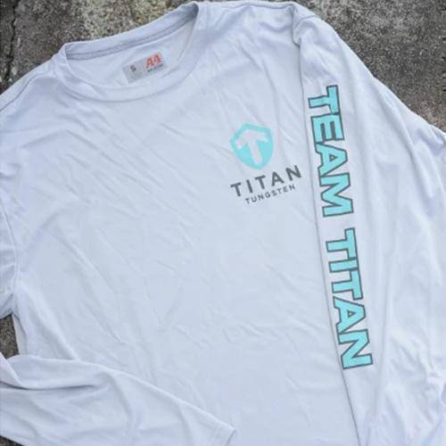 Team Titan SPF Fishing Shirt - Titan Tungsten
