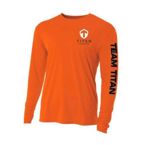 Image of Team Titan SPF Fishing Shirt - Titan Tungsten
