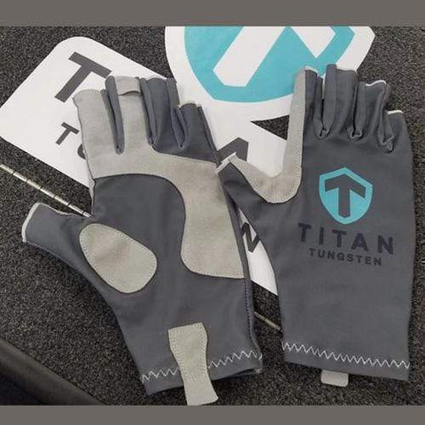 Titan SPF Fishing Gloves - Titan Tungsten