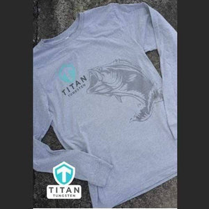 Titan Tungsten Long Sleeve Bass Shirt - Titan Tungsten