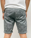 Brava Fabrics - Men's Shorts with Print - Chinese Shorts for Men - Casual Bermuda Shorts - 100% Cotton - Grey - Model Fixed Gear Rider