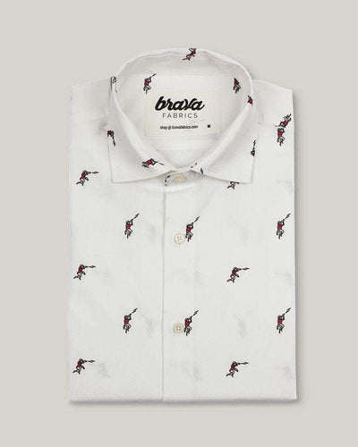 Brava Fabrics - Men's Shirt - Men's Casual Shirt - Men's Shirt - 100% Cotton - Model Escape from Mars