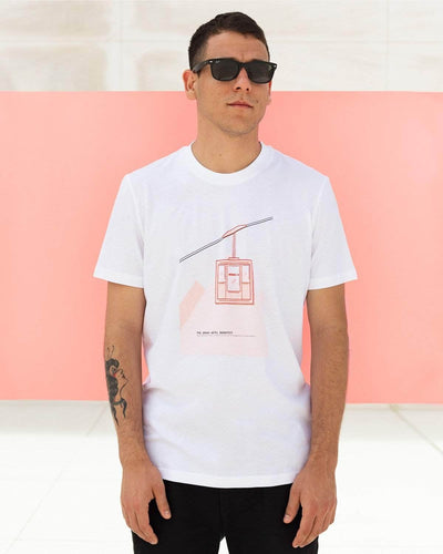 Brava Fabrics - Men's Short Sleeve T-Shirt - White Men's T-Shirt - Casual T-Shirt - Hipster T-Shirt - 100% Cotton - Model The Grand Budapest Hotel