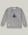 Brava Fabrics - Men's Sweatshirt - Grey Hoodie Without Hood - 100% Cotton - Model Moonrise Kingdom
