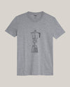 Brava Fabrics - Men's Short Sleeve T-Shirt - Grey Men's T-Shirt - Casual T-Shirt - Hipster T-Shirt - 100% Cotton - Model How To Moka