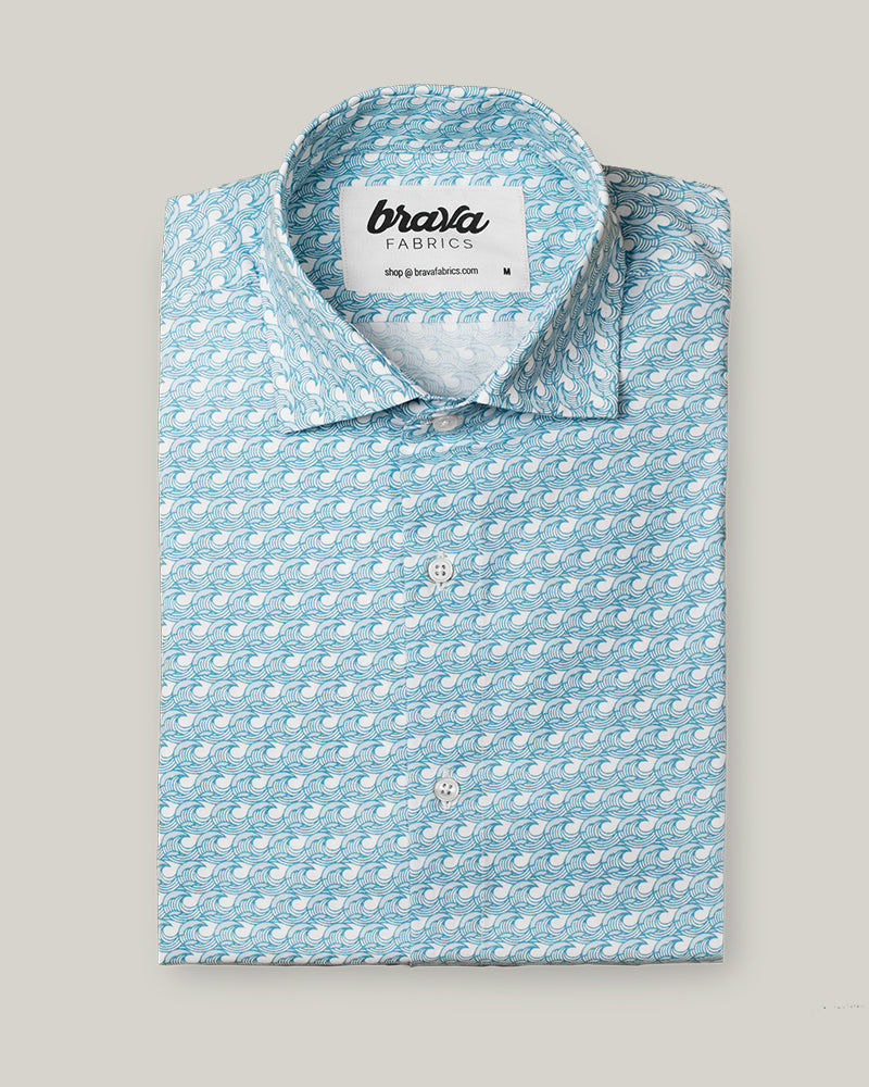 Japanese Wave Printed Shirt