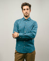 Brava Fabrics - Men's Shirt - Men's Casual Shirt - Men's Shirt - 100% Cotton - Model Arctic Orca