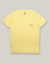Brava Fabrics - Men's Short Sleeve T-Shirt - Yellow Men's T-Shirt - Casual T-Shirt - Hipster T-Shirt - 100% Cotton - Model Bonito Infinito