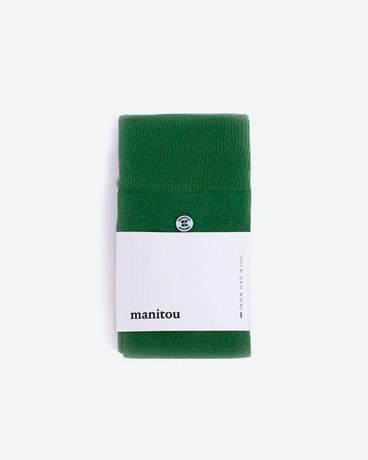 Shop ethical and sustainable fashion online: Socks Juniper Green by Manitou. Official Brava Fabrics store, 24h worldwide express shipping.