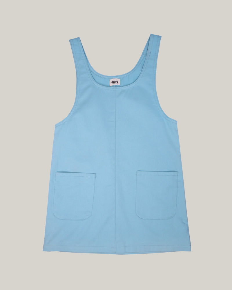 Sky Blue Pinafore Dress
