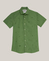 Brava Fabrics - Men's Shirt - Men's Casual Shirt - Men's Shirt - 100% Cotton - Model Green Jurassic Adventure