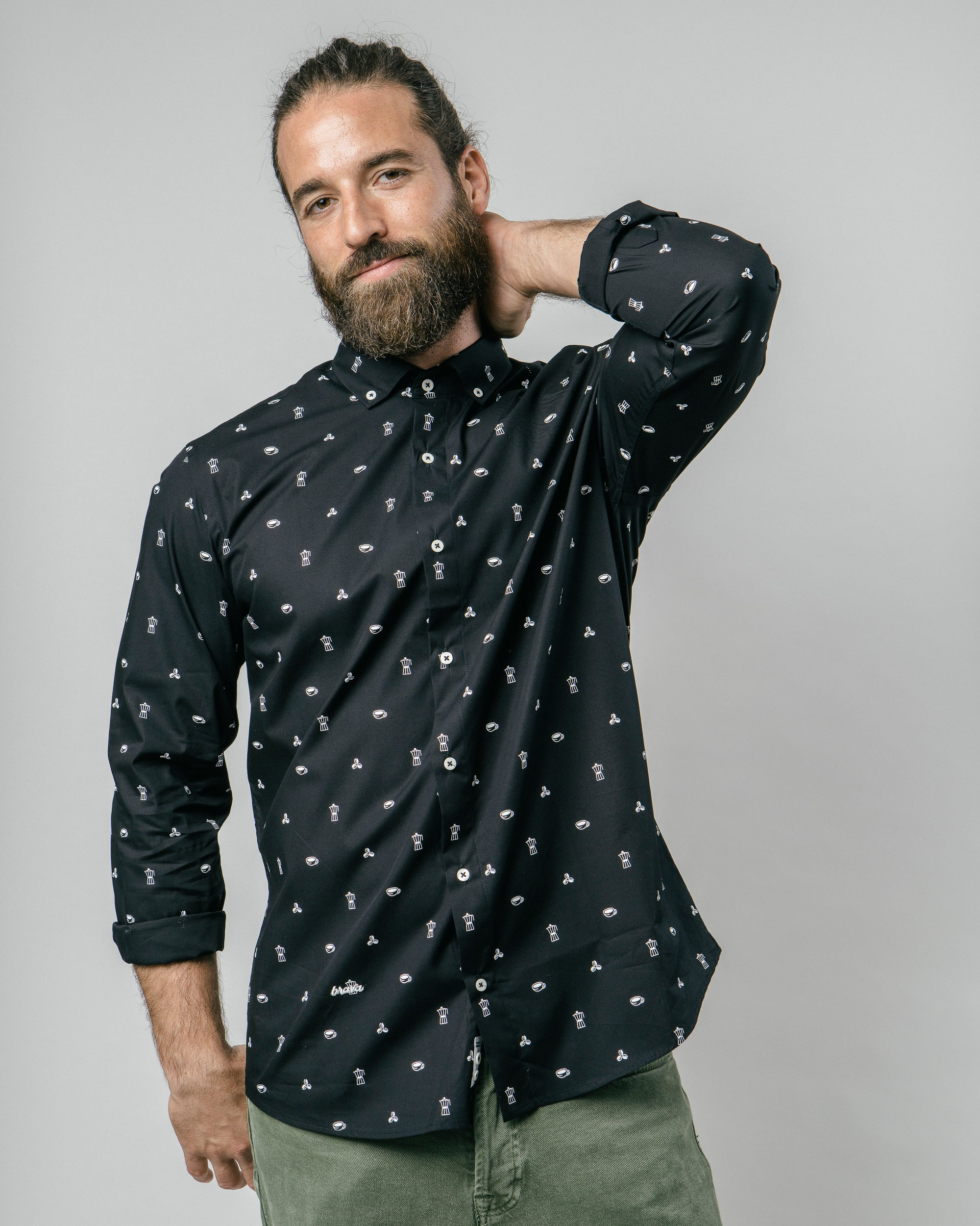 Roasted Morning Black Printed Shirt