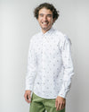 Brava Fabrics - Men's Shirt - Men's Casual Shirt - Men's Shirt - 100% Cotton - Model Slalom Race White