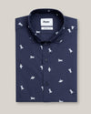 Man on the Moon White Printed Shirt