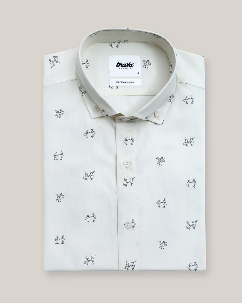 Let's Swing Again Printed Shirt