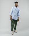 Brava Fabrics - Printed Shirt - Long Sleeve Shirt for Men - 100% Organic Cotton - Model Vintage Swimmer
