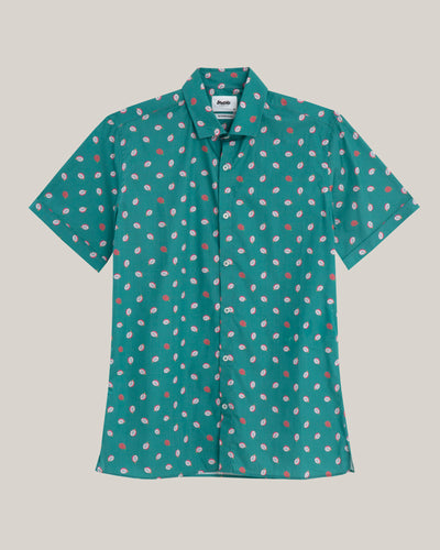Brava Fabrics - Printed Shirt - Short Sleeve Shirt for Men - 100% Organic Cotton - Model Pitaya Paradise