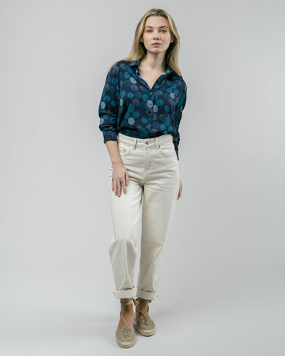 Brava Fabrics - Printed Blouse - Long Sleeve Blouse Women - 100% Ecovero-Viscose - Model Hana Bloom