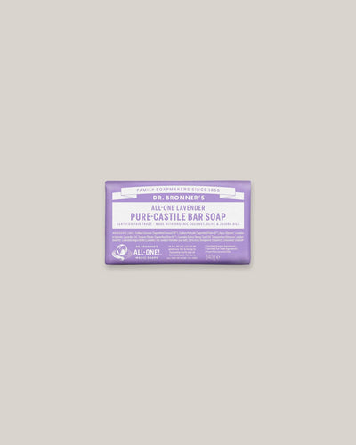 Dr. Bronner's - Pure Castile Bar Lavender - Natural Soap