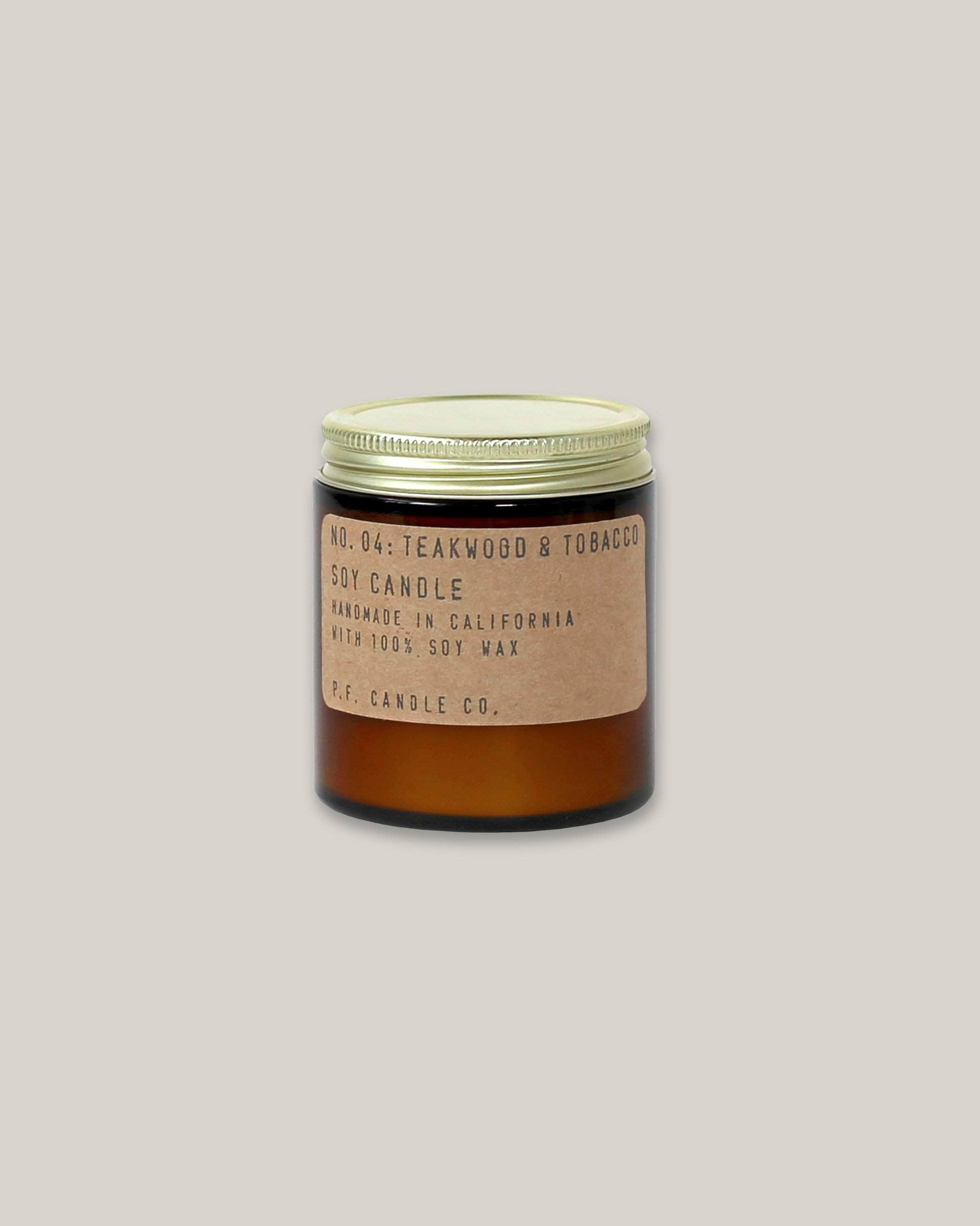 Soy Candle Teakwood & Tobacco 3.5 oz