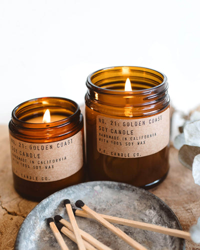 P.F. Candles - Soy Candle Amber & Moss 12.5 oz - Natural Soy Wax Candles