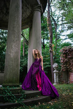 Load image into Gallery viewer, Purple Sweetheart Neck Embellished Couture Dress 36826 - Marleighz