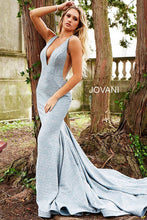 Load image into Gallery viewer, Light Blue Fitted Plunging Neckline - 47075 - Marleighz