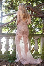 Load image into Gallery viewer, Blush Embellished Open Back Dress 57300 - Marleighz