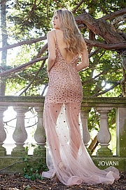 Blush Embellished Open Back Dress 57300 - Marleighz