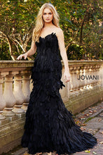 Load image into Gallery viewer, Black sweetheart Neck Long Couture Dress 61727 - Marleighz