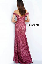Load image into Gallery viewer, Burgundy Off the Shoulder Sweetheart Neck Evening Dress 62021 - Marleighz