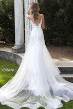 Load image into Gallery viewer, White Spaghetti Straps Long Train Wedding Gown JB65930 - Marleighz