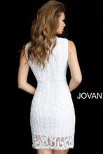 Load image into Gallery viewer, Ivory Sleeveless Embellished Short Dress 68791 - Marleighz