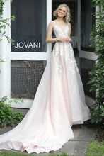 Load image into Gallery viewer, Blush Embroidered V Neck Wedding Dress JB65933 - Marleighz