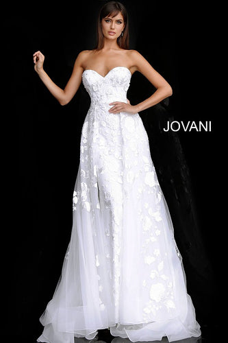 Off White Strapless Sweetheart Neck Bridal Gown JB65935 - Marleighz