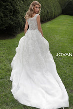 Load image into Gallery viewer, Off White Embellished V Neck Wedding Dress JB65936 - Marleighz