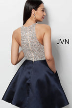 Load image into Gallery viewer, Black Embellished Bodice Sleeveless Short Dress JVN57782 - Marleighz