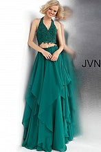 Load image into Gallery viewer, Emerald Two Piece Halter Neckline Prom Dress JVN62421 - Marleighz